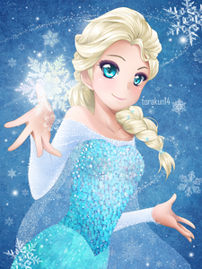 Elsa in 日本动漫 form. Same hair color and blue theme. I dunno. I just wanted to post Elsa. xD