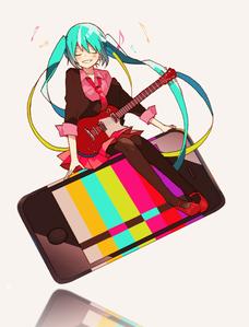 I pick the guitar.