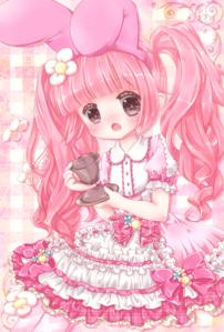粉, 粉色 background~