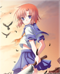 Blue/white uniform~ [Rena Ryuugu from Higurashi]