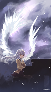 White feathers ^^ (Kanade Tachibana from Angel Beats!)