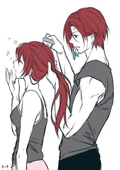 Object: Siblings Rin and Gou Matsuoka from Free!