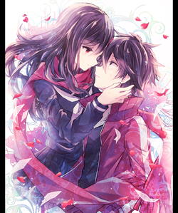 Scarf ♥ (Ayano and Shintaro from Kagerou Project)