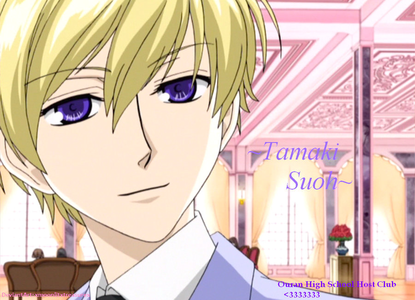 Object~ Blonde Tamaki suoh from Ouran High school Host club.
