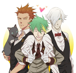 Green hair! The bois of Death Parade! <3