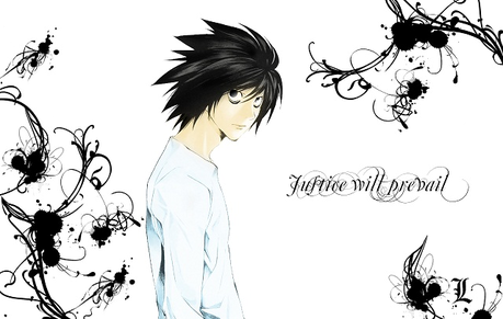 L from death note ( the same picture ... almost )