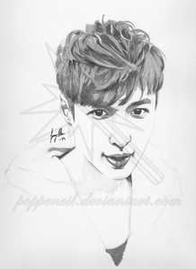 Here's a fanart of Yixing from the k-pop group EXO I made in marker pens. I hope you like it! :D (and