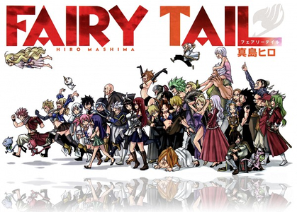 Sorry I'm late. This is all I could find. It's the entire Fairy Tail cast