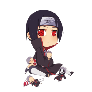 Name: Itachi Uchiha bday . 09.06 Bottom Text: any Card Colour: black/white Text Colour: black