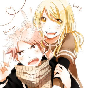 Natsu and Lucy<3