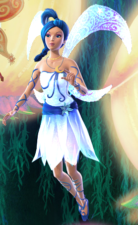 Mine I think moon fairy should look like one, so I choose white with shade of blue.