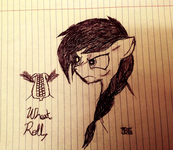 Name: Wheat Roll (Such an original name -.-) Gender: Mare Race: Earth pony Personality: Irascible,