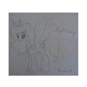 [b]Name: Nightsong Type: Alicorn Personality: Intelligent, Likes to be left alone sometimes, Melanc