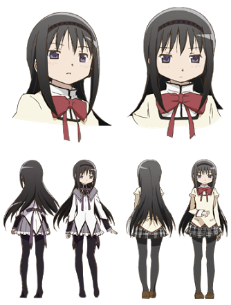 Homura Akemi from Puella Magi Madoka Magica They both have.. ~ Purple Eyes ~
