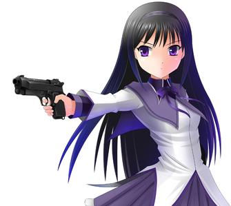 Homura Akemi. Both have black hair.
