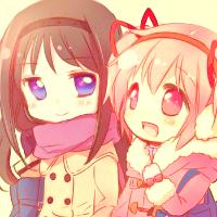 Homura and Madoka! ^ ^