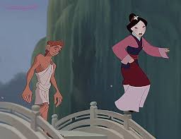 *Tiptoes in* Um, hi-ya! You didn't see that right? Um, here is my segundo favorito ship ever: mulan an