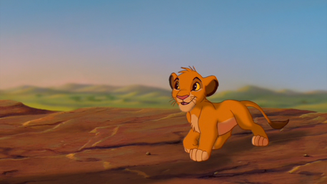 "Simba: ""There's more?"" Mufasa: (chuckles) Simba."""