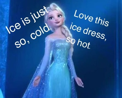 And then Elsa runs away to her ice castle: