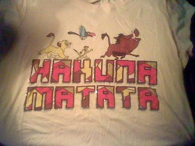 My Hakuna Matata chemise :)