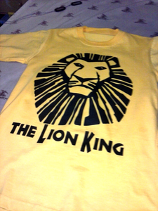 My Lion King Musical chemise