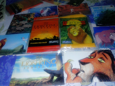 Skybox's Lion King trading card... so far I only had 2 pack of series II and 1 pack of series 1.....s
