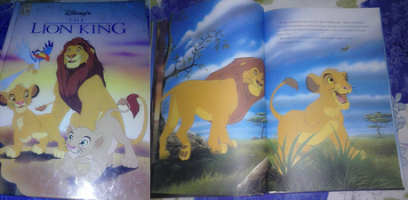 My Lion King Hardcover book. Original 1994, US made...okay condition. Can anda spot the goof on the c
