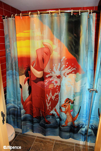 A cool TLK chuveiro curtain :D