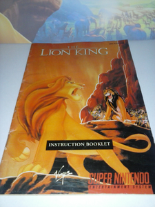 I've just completed the Sega Lion King game, thanks to this Instruction Booklet.