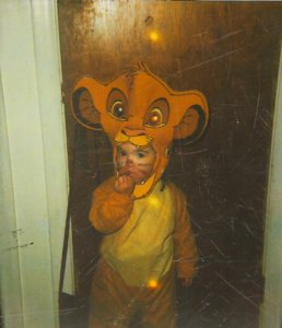 A pic of my niece, Lexy dressed as Simba in 1999 at age 2. she's now 19 yrs old. :D