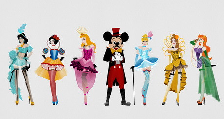 Yes that's fine :) Is this it?  Find a fanart of Minnie dressed like the 6 original princess.