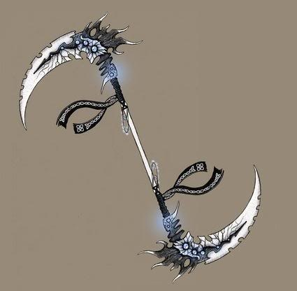 And this is his normal scythe form