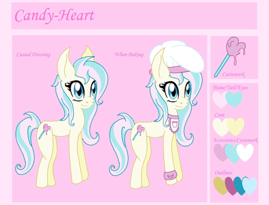 Name: Candy-Heart Age: 17 Gender: Female Race: Earth poni, pony Powers tu Already Have: None other tha