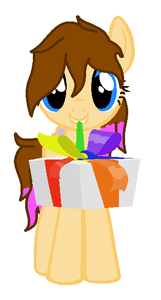 Sunny: Hai! (The pic was for Christmas but it is the most récent one anyways i'll use Sunny here :