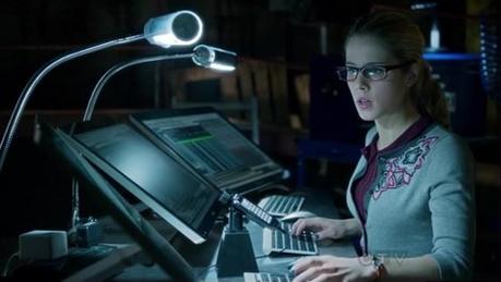 Here she is :) Next: Felicity, Oliver and Diggle