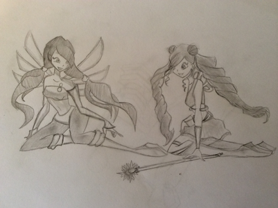 Here is Maggie and Ayla finally, the base I used is winx bases, base 303