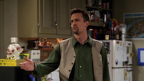 Here he is :D Next: Chandler and Ross in college