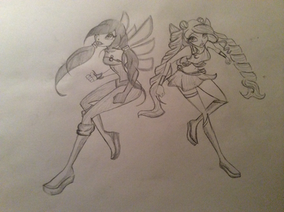 Here she is in Magic Winx, she and Ayla are about to fight an enemy in this picture, ps I have a nice