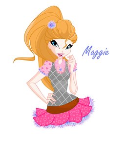 Here I Maggie in her school uniform, this is my second speedpaint so I'm still pretty bad and I hope