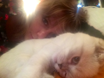 here's Taylor with her newest kitty,Olivia