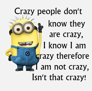 I think I'm crazy!! xD