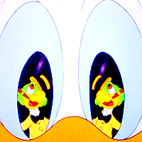 Round 4 - Eyes Donald হাঁস being possessed দ্বারা José Carioca in The Three Caballeros.