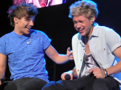 Louis is the funniest person in the world, according to Niall :D :D Amore this pic coz they are havi
