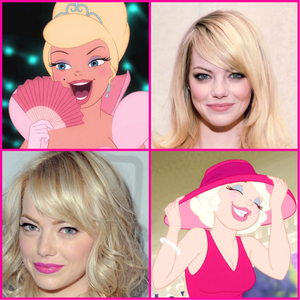 (You mean পুডিংবিশেষ La Bouff, right?) Emma Stone. I think she has a similar nose and her facial st