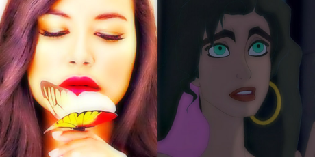 Naya Rivera as Esmeralda for sure. Now Find a look alike for Beast