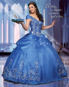 A Quinceanera dress perhaps? Post the 6th picture when anda google: belle and cinderella