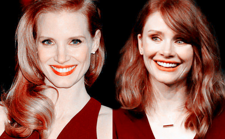 [b]Day 3: Two নায়িকা who look a lot alike[/b] [i]Jessica Chastain and Bryce Dallas Howard[/i]