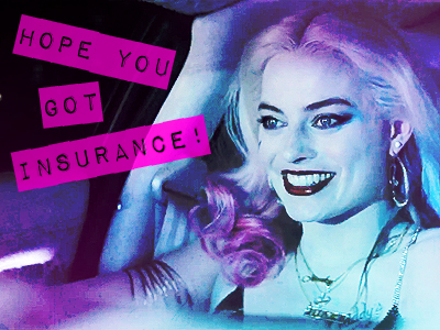 "[b]6. Favourite quote from the Comic Con trailer?[/b] ""Hope anda got insurance!"""