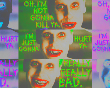 "[b]18. Favourite Joker moment so far?[/b] ""Oh, I'm not gonna kill ya. I'm just gonna hurt ya. Real"