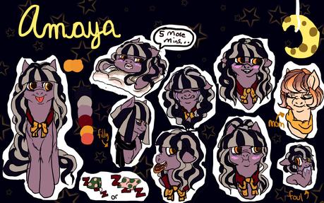 Name:Amaya Nighthandler Age: 21 years old Gender: female Species:enquine(Earthpony) H